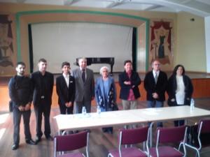 Con el Tribunal del XXX Premio de Interpretación Sociedad de Conciertos de Alicante