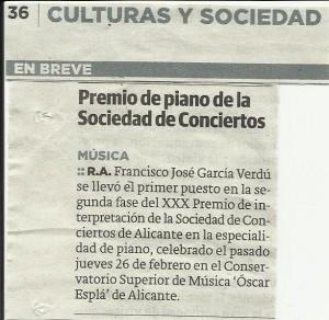La Verdad recorte Concurso Sociedad Conciertos Alicante